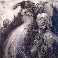 Stampa su plexi-alluminio  Troll of the forest - John Bauer
