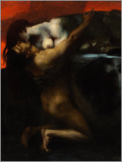 Adesivi murali  The Kiss of the Sphinx - Franz von Stuck