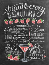 Adesivo murale  Ricetta Strawberry Daiquiri (in inglese) - Lily & Val