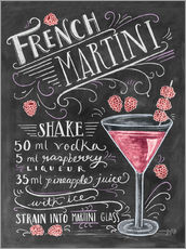 Adesivi murali  French Martini Raspberry - Lily & Val