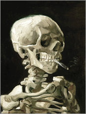 Adesivo murale  Skeleton with a burning cigarette - Vincent van Gogh