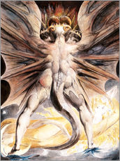 Stampa su plexi-alluminio  Clothed The Great Red Dragon and the Woman with the Sun - William Blake