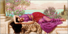 Adesivo murale  Dolce Far Niente - John William Godward