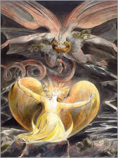 Adesivo murale  the great red dragon and the woman clothed with sun - William Blake