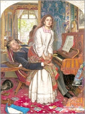 Stampa su plexi-alluminio  The Awakening Conscience - William Holman Hunt