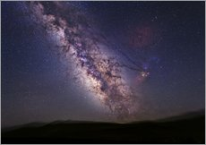 Adesivo murale  Milky Way over California, USA - Tony & Daphne Hallas