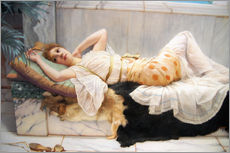 Stampa su plexi-alluminio  The Betrothed - John William Godward