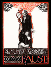 Adesivi murali  Poster for Goethes Faust - Richard Roland Holst