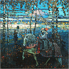 Adesivo murale  Couple on a horse - Wassily Kandinsky