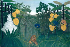 Henri Rousseau - The meal of the lion