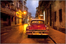 Adesivi murali  Red vintage American car in Havana - Lee Frost
