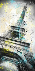 Adesivi murali  City Art PARIS Eiffeltower IV - Melanie Viola