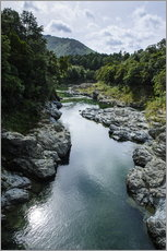 Adesivo murale  River contributing water to the Marlborough Sounds, South Island, New Zealand, Pacific - Michael Runkel