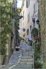 Stampa su plexi-alluminio  Alley in Saint-Paul-de-Vence - Stuart Black