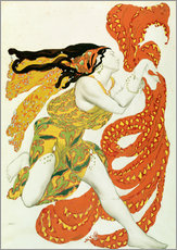 Adesivo murale  Costume design for a bacchante in 'Narcisse' by Tcherepnin - Leon Nikolajewitsch Bakst