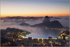 Adesivo murale  Sugarloaf Mountain and Botafogo Bay - Ian Trower