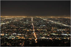 Stampa su plexi-alluminio  Los Angeles at night - Wendy Connett