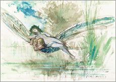 Adesivo murale  Dragonfly - Gustave Moreau