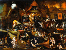 Adesivi murali  The harrowing of hell - Hieronymus Bosch