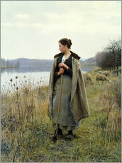 Adesivo murale  The Shepherdess of Rolleboise - Daniel Ridgway Knight