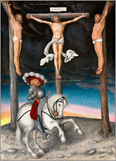 Adesivo murale  The Crucifixion with the converted Captain - Lucas Cranach d.Ä.