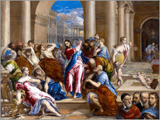 Adesivo murale  Christ expels traders from the temple - Dominikos Theotokopoulos (El Greco)
