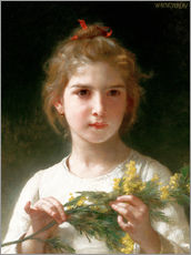 Adesivo murale  The flowering mimosa - William Adolphe Bouguereau