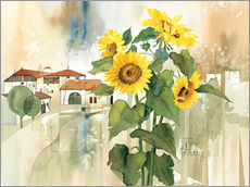 Adesivo murale  Sunflower greetings - Franz Heigl