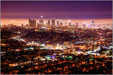 Adesivi murali  Los Angeles at night - Daniel Heine