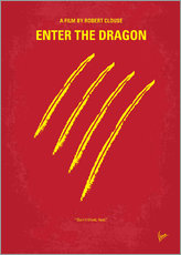 Adesivo murale  No026 My Enter the dragon minimal movie poster - chungkong