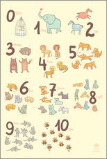Stampa su plexi-alluminio  Zoological numbers for nursery - Petit Griffin