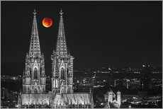 Adesivi murali  Blood Red Moon Cologne Cathedral - rclassen