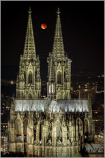 Stampa su plexi-alluminio  Blood moon shines over Cologne Cathedral - rclassen
