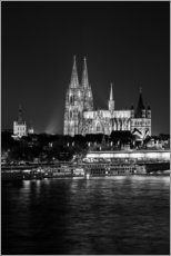 Adesivo murale  Cologne Cathedral at night - rclassen