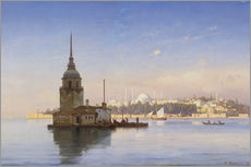 Adesivo murale  The Maiden's Tower (Maiden Tower) with Istanbul in the background - Carl Neumann