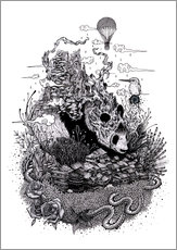 Stampa su plexi-alluminio  Land of the Sleeping Giant (Ink) - Mat Miller