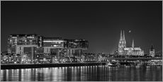Adesivi murali  Cologne night Skyline black / white - rclassen