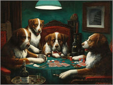 Cassius Marcellus Coolidge - The poker game