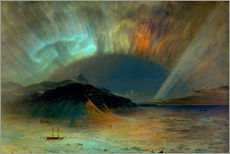 Adesivi murali  Northern lights - Frederic Edwin Church