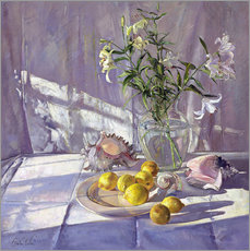 Adesivo murale  Still Life Flowers and Lemons - Timothy Easton