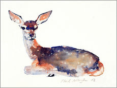 Stampa su plexi-alluminio  Lying deer - Mark Adlington
