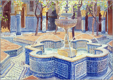 Adesivo murale  The blue fountain - Lucy Willis