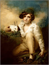 Adesivo murale  Boy and Rabbit - Henry Raeburn