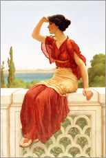 Stampa su plexi-alluminio  The Signal - John William Godward