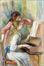 Stampa su plexi-alluminio  Young Girls at the Piano - Pierre-Auguste Renoir
