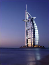 Adesivo murale  The Burj Al-Arab at dusk - Ian Cuming