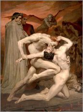Stampa su plexi-alluminio  Dante e Virgilio all'Inferno - William Adolphe Bouguereau