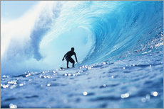 Adesivi murali  Surfer in the pipeline Barrel - Vince Cavataio