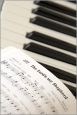 Adesivo murale  Sheet music on piano keyboard - John Short