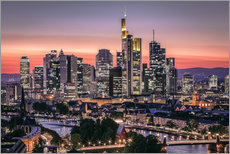 Adesivo murale  Skyline Frankfurt am Main Sundown - Frankfurt am Main Sehenswert